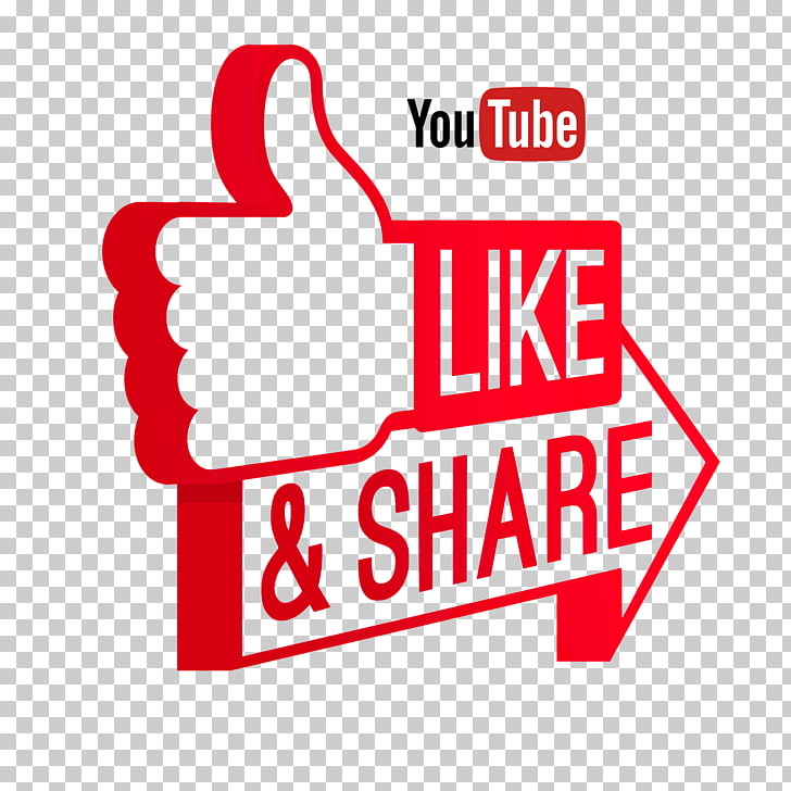 Like and Share on Youtube, Youtube logo PNG clipart.