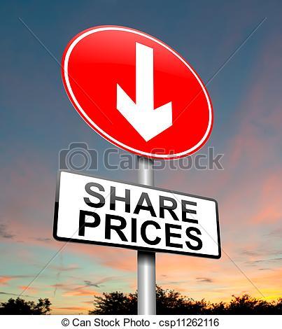 Clipart of Share price decrease..