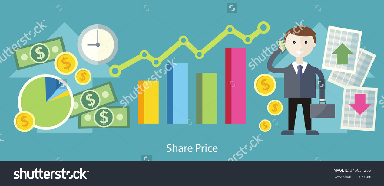 Share Price Exchange Concept Design Business Stock Vector.