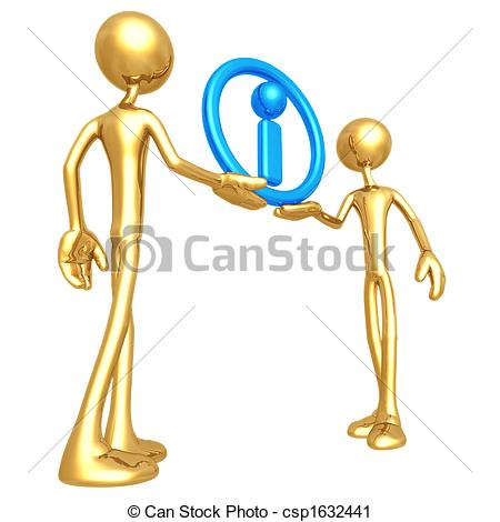 Clipart of Shared Information.