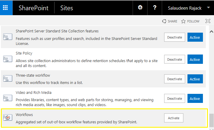 Approval Workflow Missing in SharePoint 2013?.