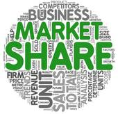 Stock Illustration of Market share concept in tag cloud k9493866.