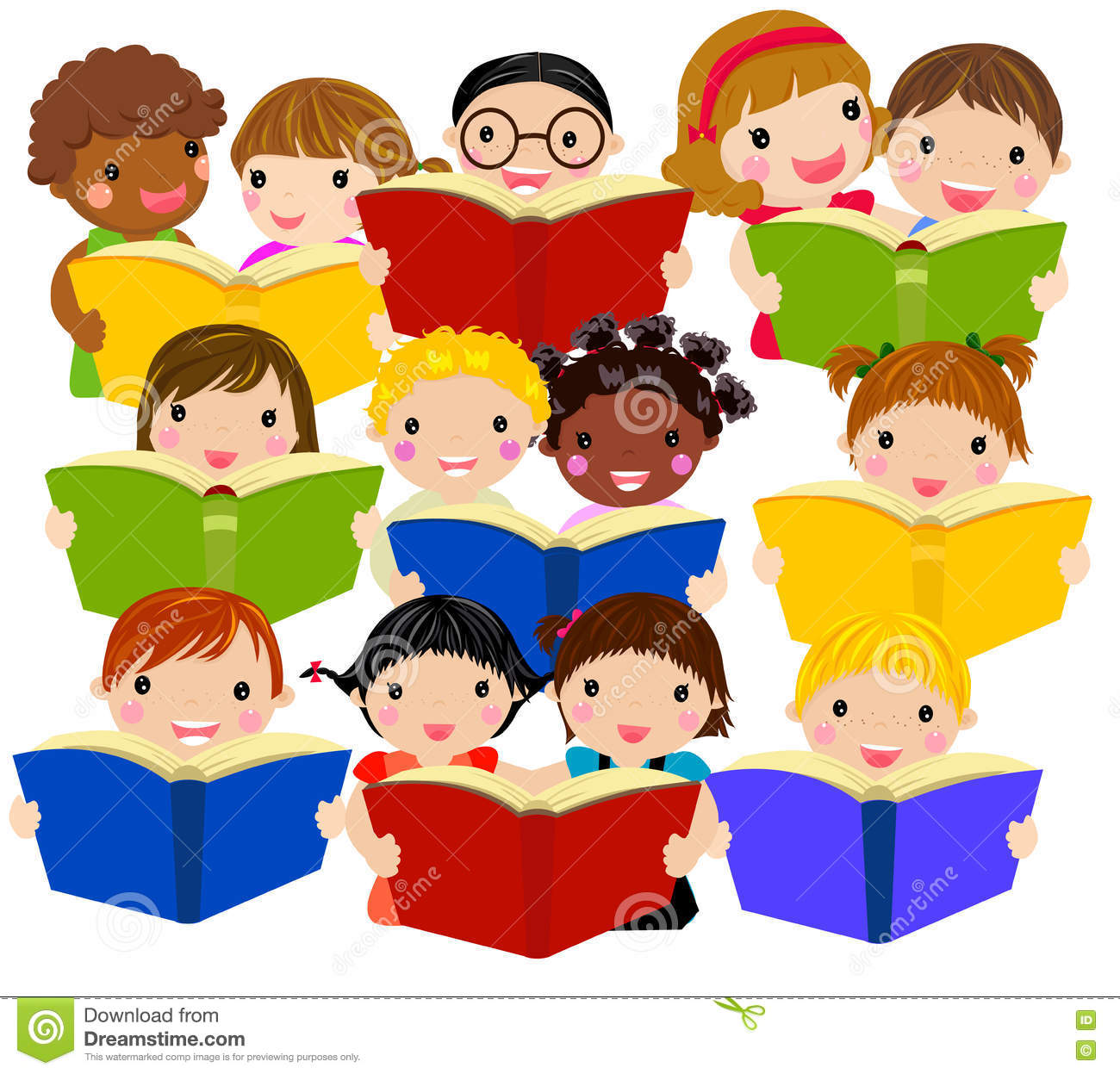 sharing books clipart - Clipground