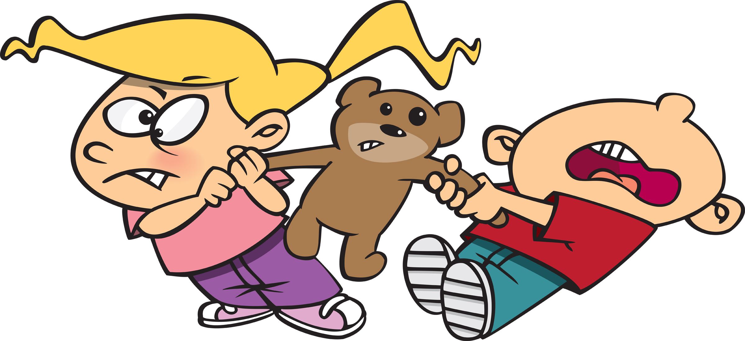 Kids Sharing Clipart Black And White kids sharing to...