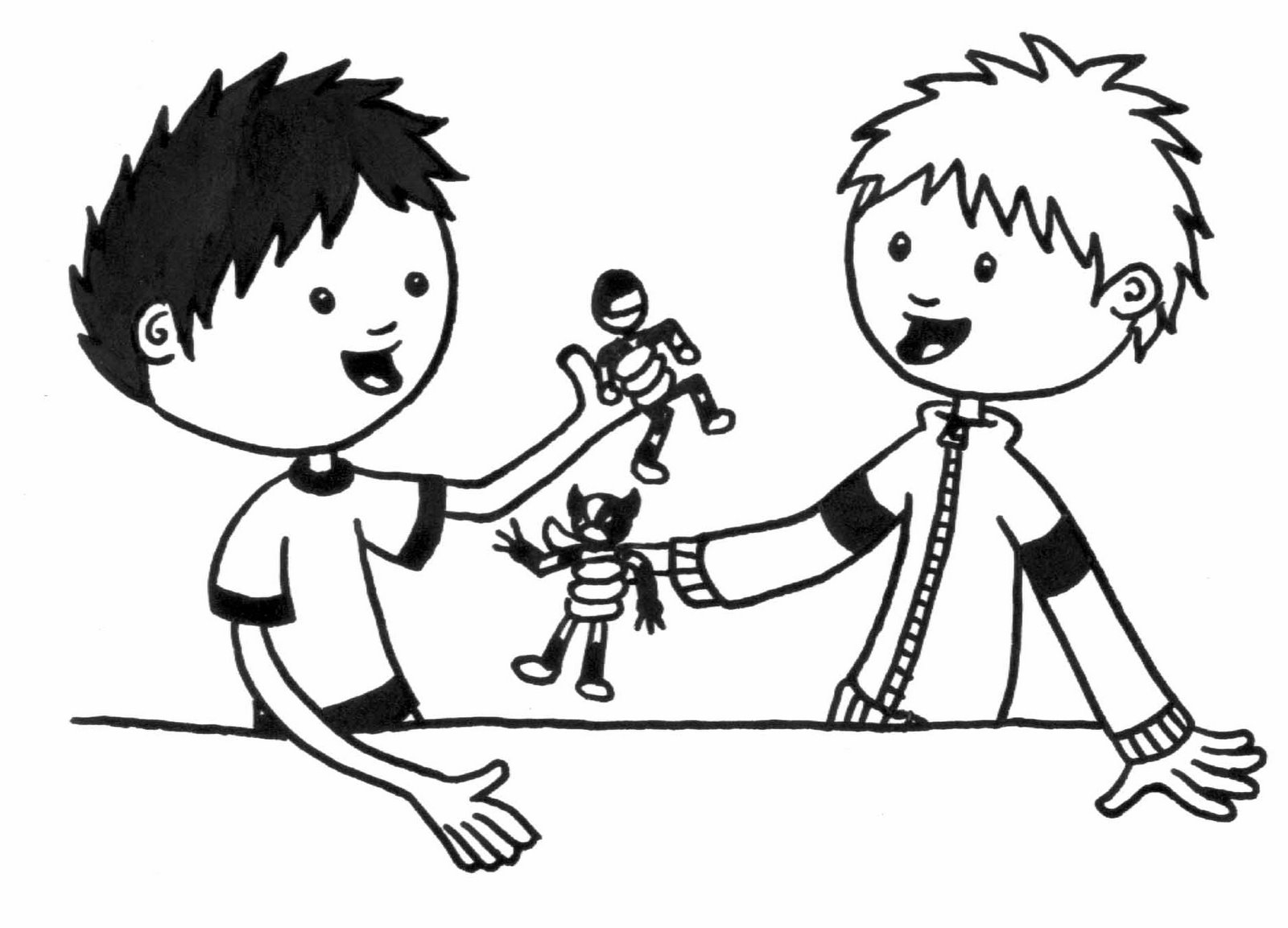 Sharing Clipart Black And White.