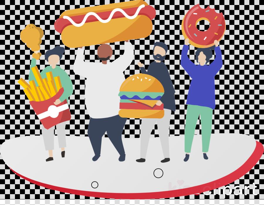 clip art sharing conversation fast food junk food clipart.
