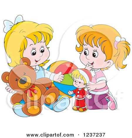 Sharing food with friends clipart