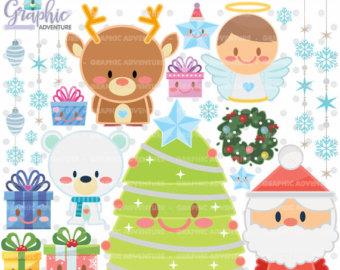Winter Wonderland Clipart Set.