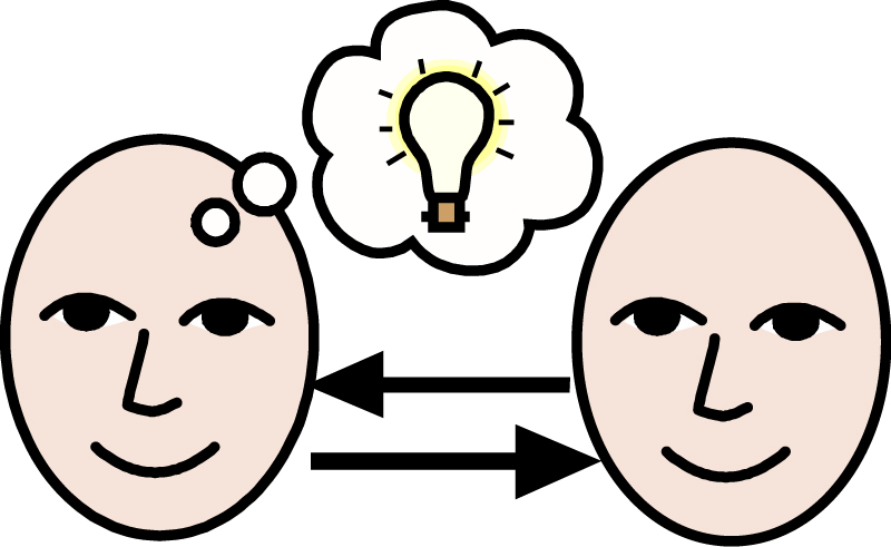 Sharing Ideas Clipart.