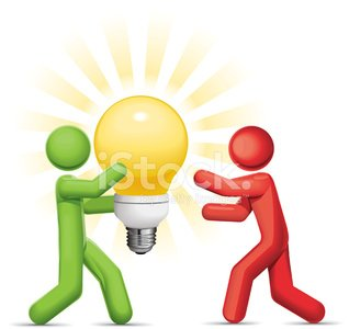 Sharing Ideas Clipart Image.