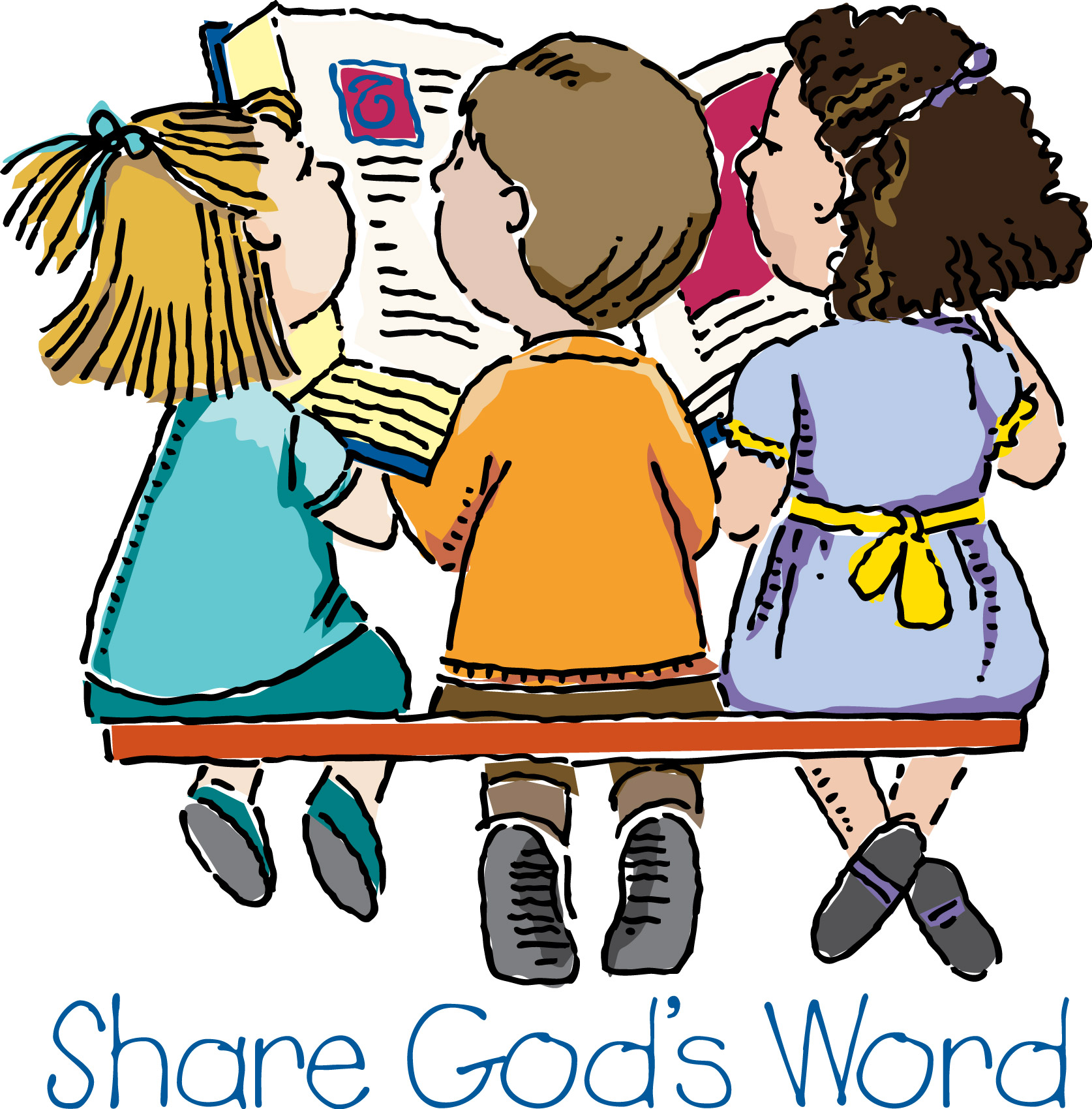 Sharing Jesus Clipart.