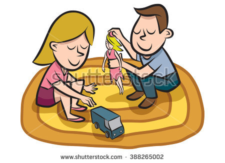 Kids Sharing Toys Stock Images, Royalty.