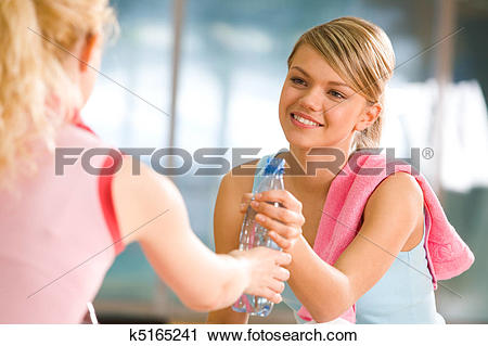 Stock Photography of Sharing water k5165241.