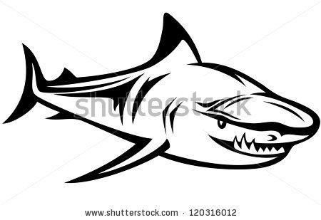 Shark Bite Surfboard Stock Vector 170531270.