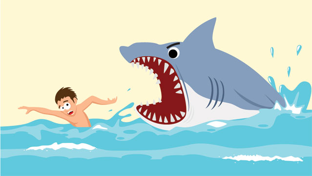 Shark Attack Cartoon Pictures to Pin on Pinterest.