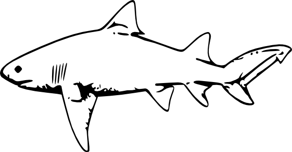 Shark Clip Art Black And White.