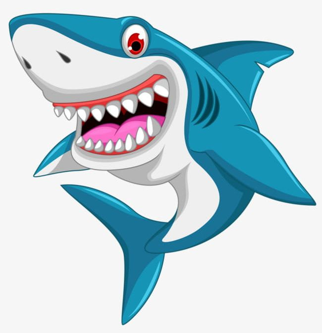 Cartoon Great White Shark PNG, Clipart, Cartoon, Cartoon.