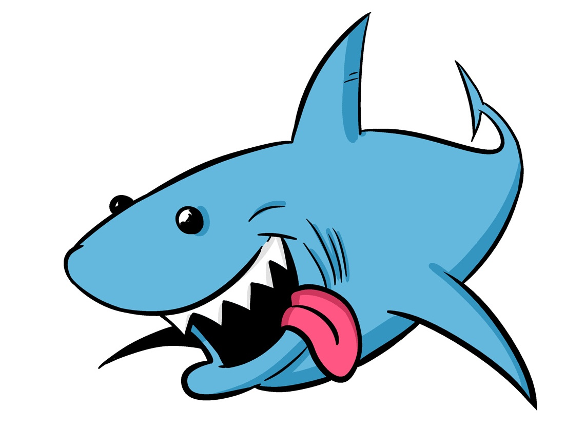 Picture of a shark on animal picture society clip art.