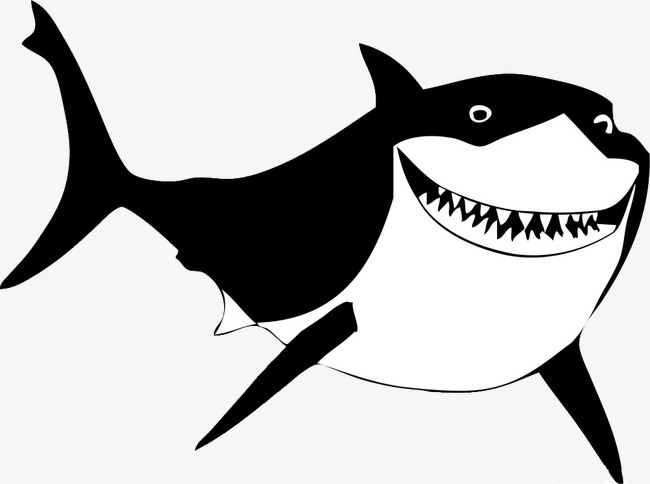 Shark Png Black And White & Free Shark Black And White.png.