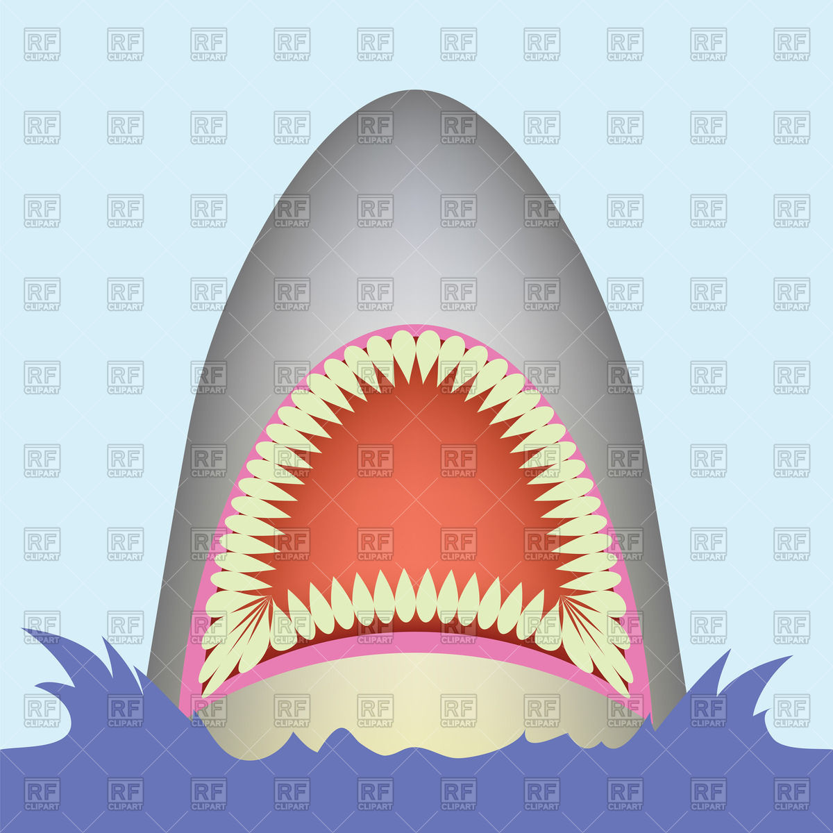 Shark open mouth Vector Image #63730.