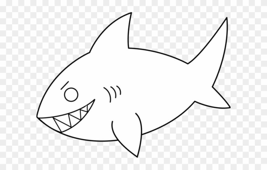Shark Line Art.
