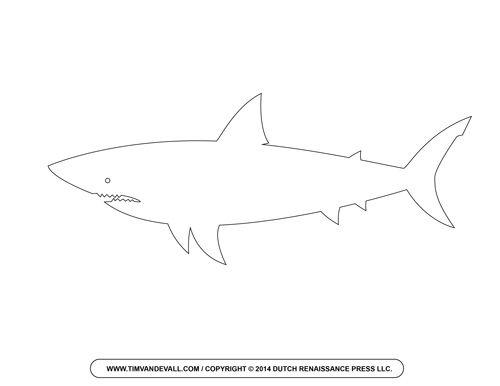 Shark Outline Clipart.