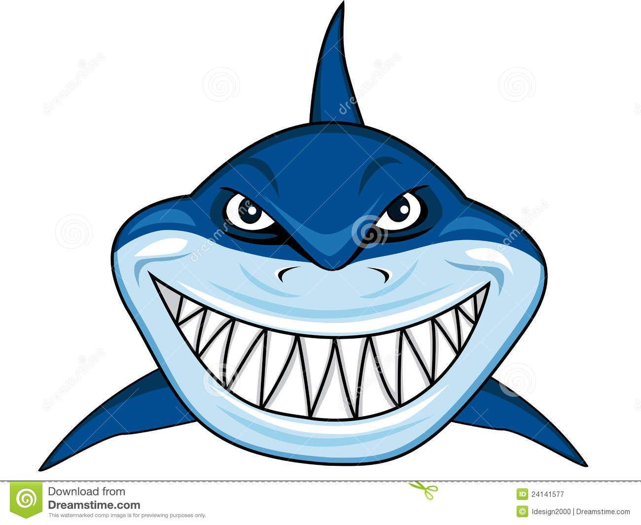 Shark Fin Illustration.