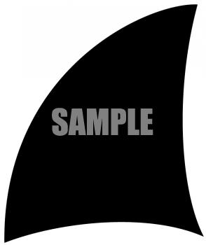 Shark Fin Silhoette Clipart.