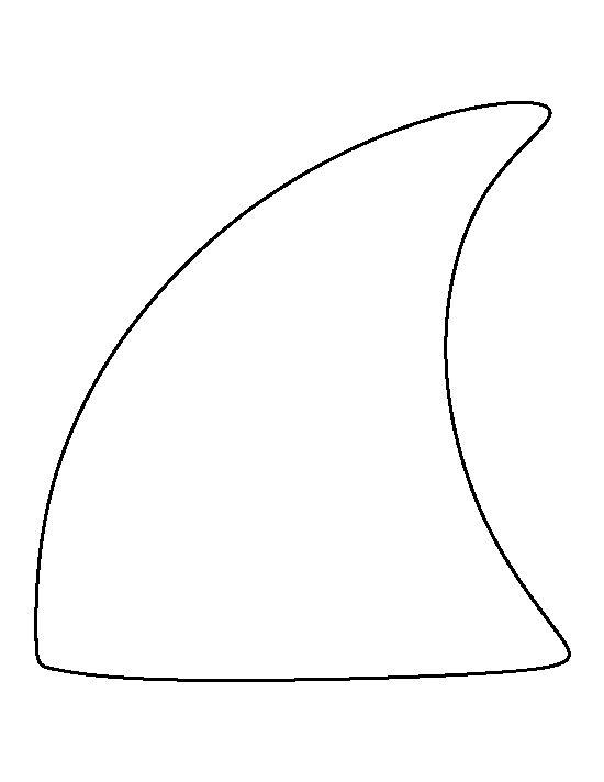 Shark Fin Clipart Outline.