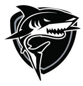 Clipart of Shark head cartoon k16962554.