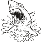 shark jumping out of the water clipart 20 free Cliparts