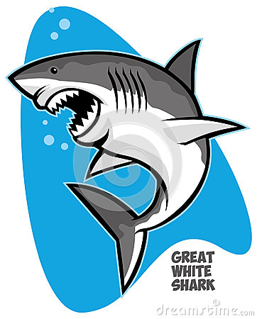 Shark Jumping Out Of The Water Clipart.