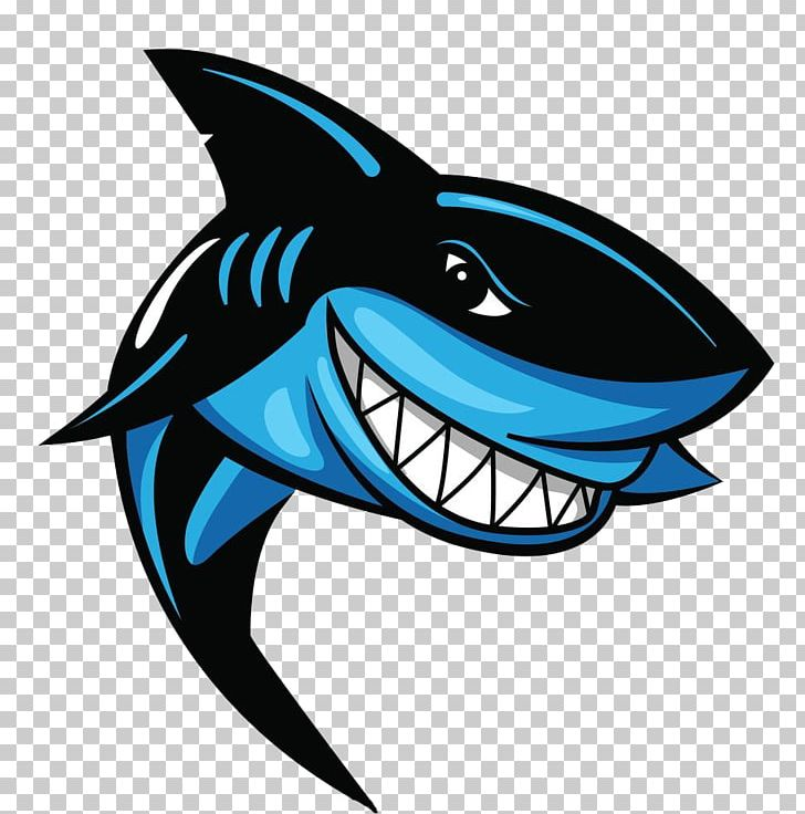 Great White Shark Logo PNG, Clipart, Animals, Black, Blue.