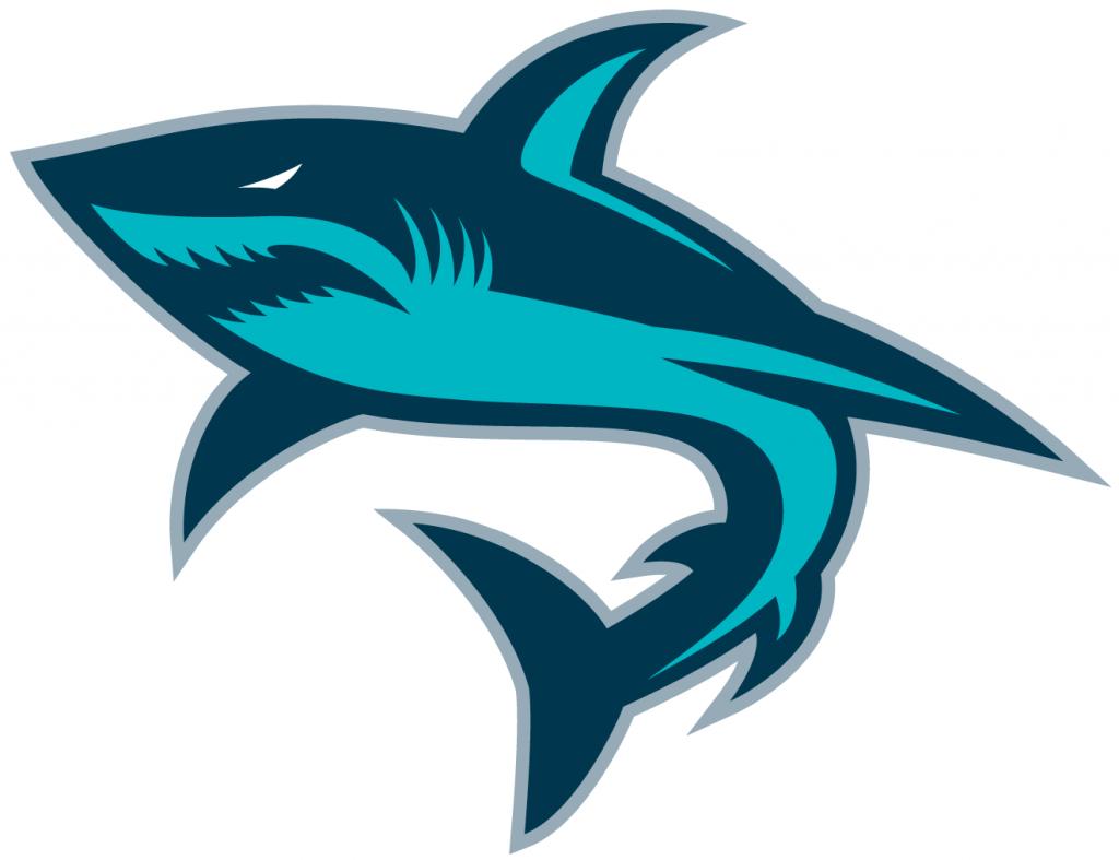 shark logo.