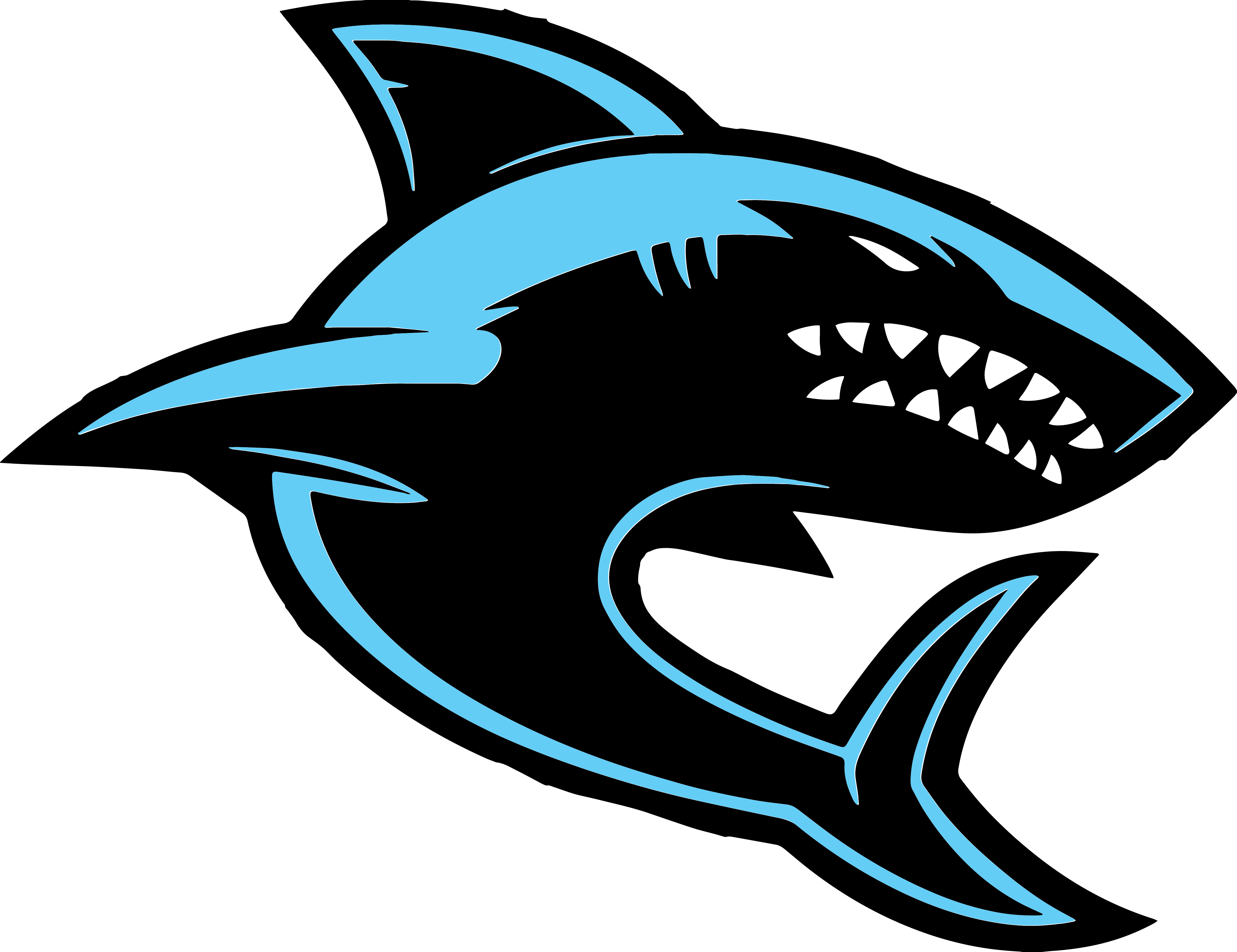 388 Sharks free clipart.