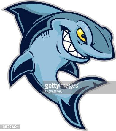Kid Shark Mascot Clipart Image.