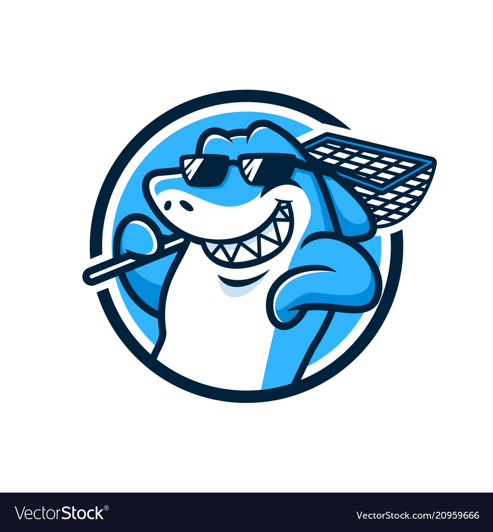 Cool shark mascot design.