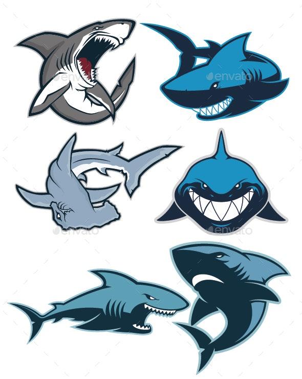 Shark Logo Mascot.