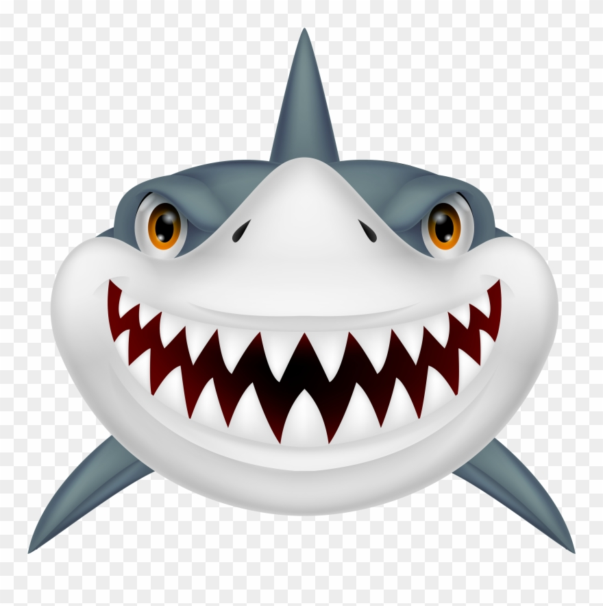 Shark Clip Art Black And White Free Clipart Image.