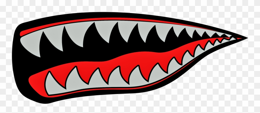 Shark Mouth Free Vector Clipart (#3678964).
