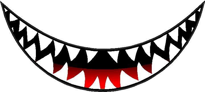teeth+shark+mouth+clipart.