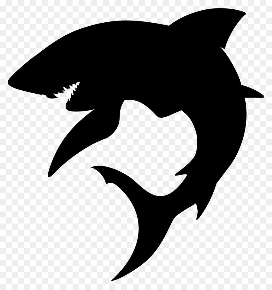 Shark Silhouette Clip Art.