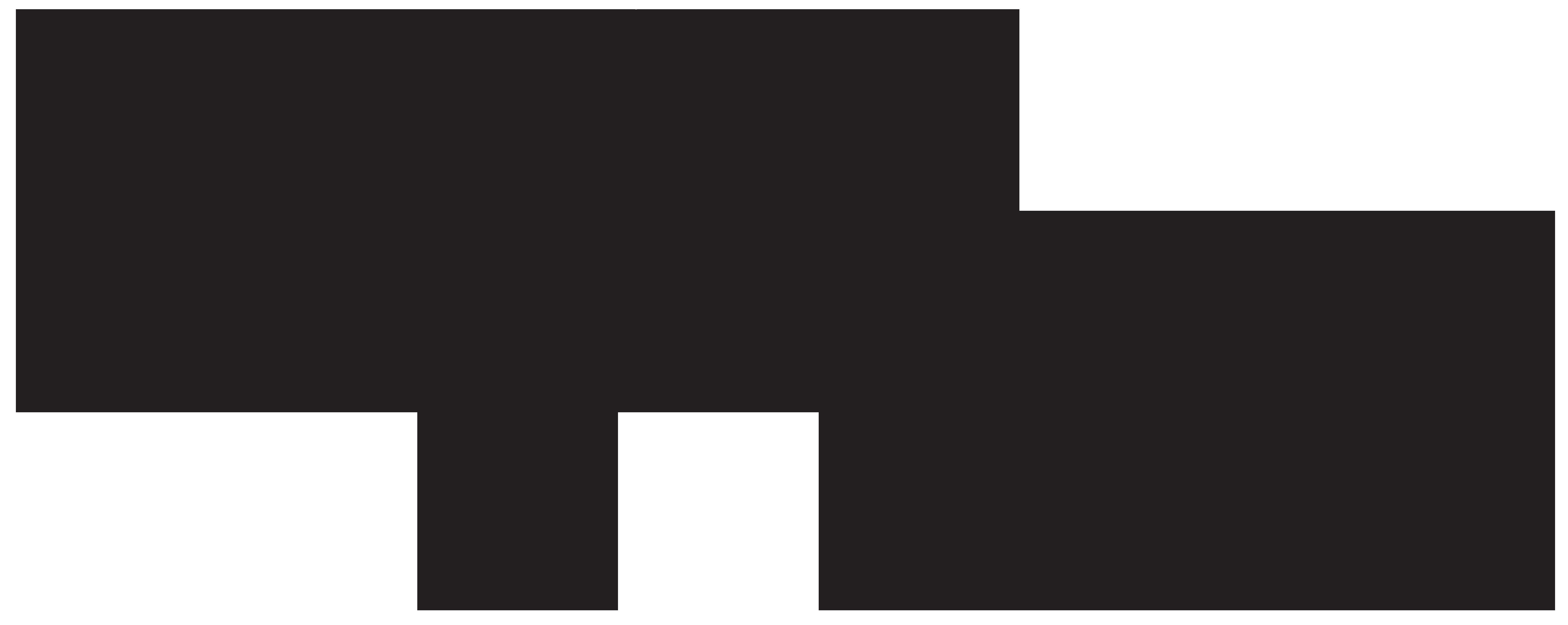Hammerhead Shark Silhouette PNG Clip Art Image.