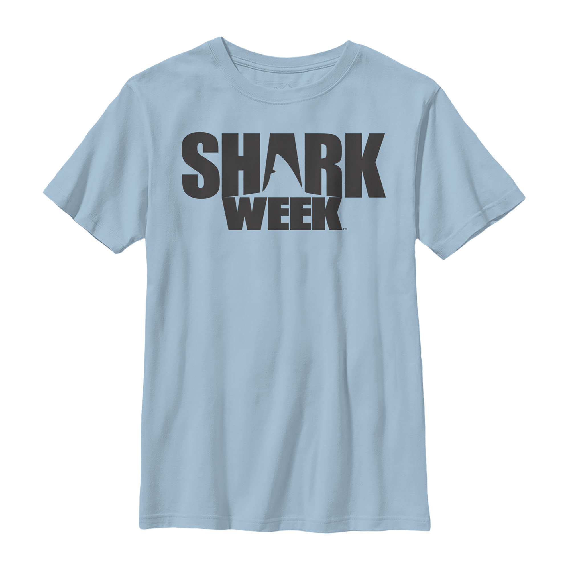 Details about Discovery Shark Week Fin Logo Boys Graphic T Shirt.