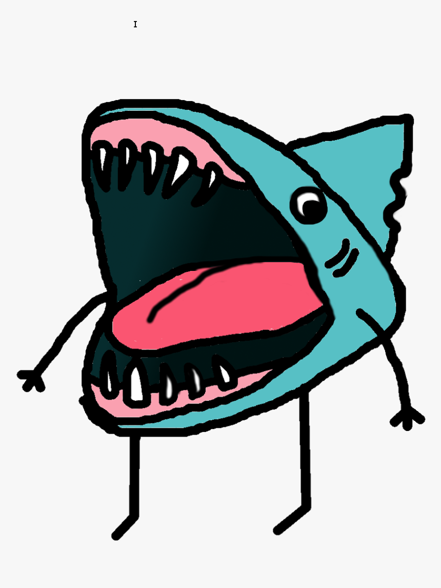Drawing Shark Open Mouth Clipart , Png Download.