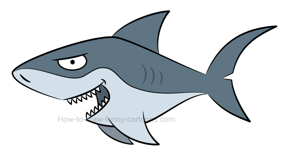 How to draw a shark picture.