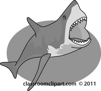 Shark Mouth Open Clipart.