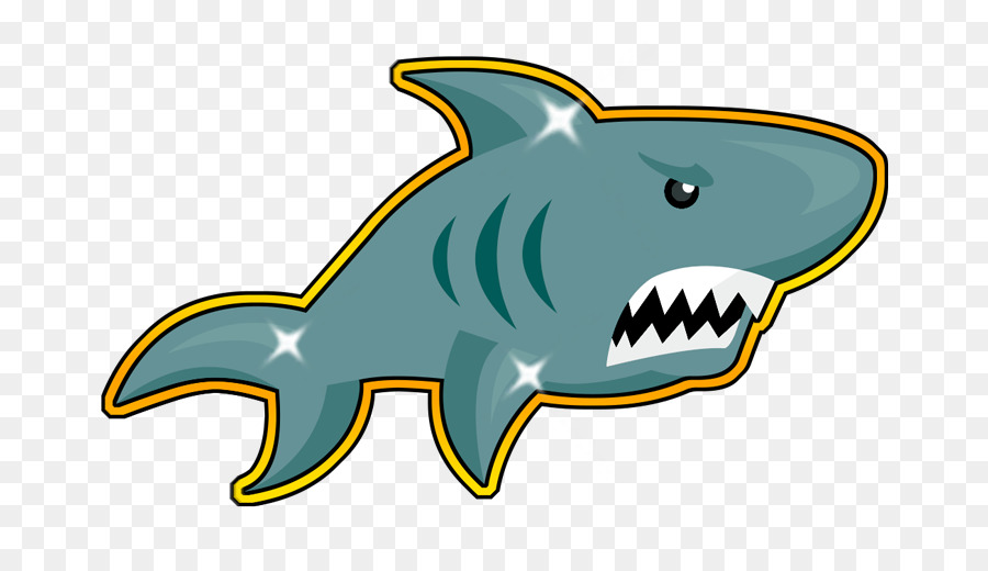 Cartoon Shark clipart.