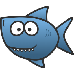 Cartoon sharks clipart.
