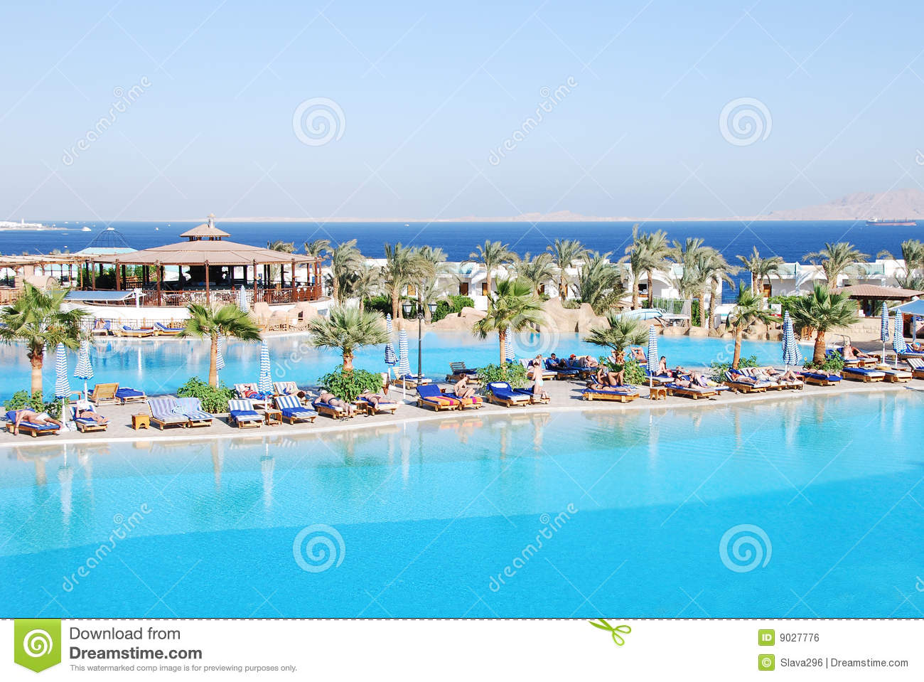 Luxurious Hotel At Sharm El Sheikh Stock Photos.